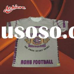 custom printed t shirt with 100%polyester