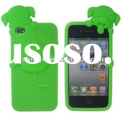 cute silicone cell phone case / silicone case for Iphone 4/gel case