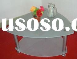 decorated glass coffee table top