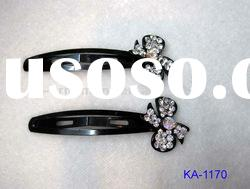 fashion metal hair clip with crystal for girls