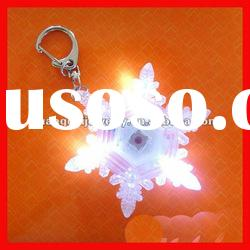 fashion snowflake mini led light key chain