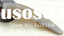 hot sell !!! wide teeth natural water buffalo ox horn hair comb as gift products for waving hair