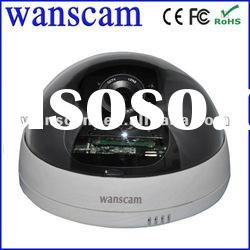 indoor wired sony CCD with motion detection ip dome camera