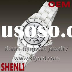 inexpensive white ceramic watch
