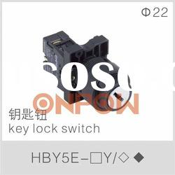 key lock switch HBY5E,key select switch,key switch