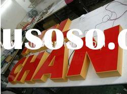 low price stainless steel LED letters