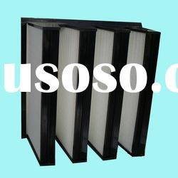 mini-pleated medium efficiency combined air filters for gas turbine system and power plant