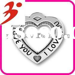 new style alloy antisilver I love you heart charms valentines day gift(185553)