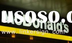 outdoor Advertising LED Illuminated Letter Signs