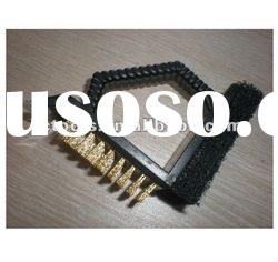plastic handle sponge and brass wire BBQ Brush