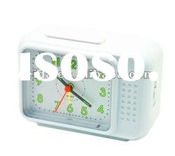 plastic table alarm clock with backlight