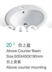 popular bathroom ceramic Above Counter Wash Basin