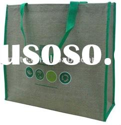 promotional jute bag with PP webbing handle