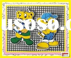 pvc rubber cartoon sticker for key decoration