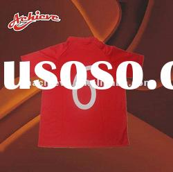 red custom printed t shirt with 100%polyester