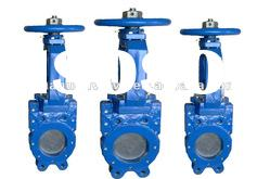 resilient seated dutile iron knife gate valves