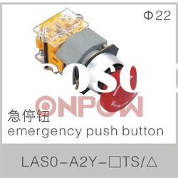 round emergency push button switch LAS0-A(emergency push button,emergency stop push button switch)