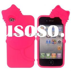silicone case for Iphone 4/ slicone animal design case