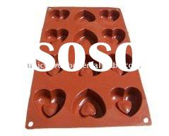 silicone heart shaped cake mould