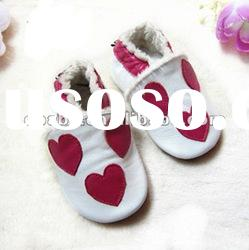 soft leather baby boots furlined kids shoes