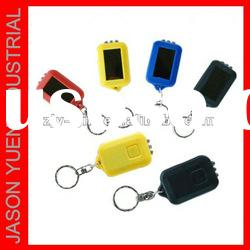 solar power LED torch small key chain colorful led torch
