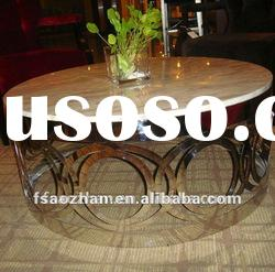 stainless steel AZ-0466A marble top coffee table