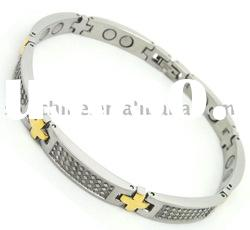 stainless steel stamping jewelry Magnetic fashion IPG bracelet