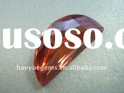 synthetic gemstone,red round brilliant cubic zirconia