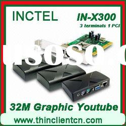 thin client with PCI with 32 bit graphic card,HDD video supported, can play fullscreen youtube