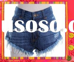 vintage lady fringe short hot jeans summer new design short denim jeans pants for women hot sale