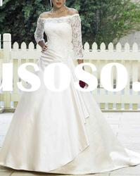 white long sleeve lace wedding dress 2012