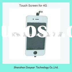 white mobile phone digitizer touch panel screen for apple iphone 4 paypal is accepted
