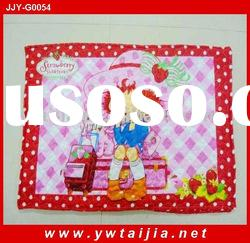 wholesale cartoon printing and soft quilted pillow cover