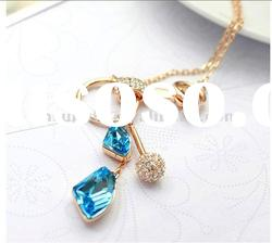 wholesale fashion jewelry austria crystal charm necklace