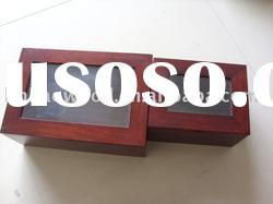 wooden gift box with glass cover