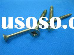 yellow and white zinc plated chipboard screw / screw