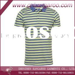 100%Cotton Men's Fashion Stripe Polo Shirt