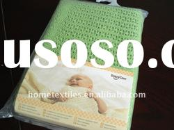 100% cotton cellular baby blanket