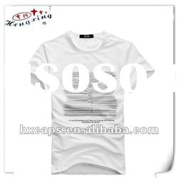 100% cotton custom printed O-neck men's T-shirt