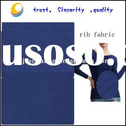 100% cotton knit rib fabric for sportswear and polo shirts