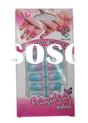 12 pcs Pattern Artificial Nail Tips with A Nail Glue