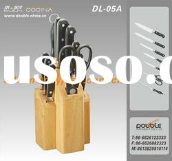 13 pcs pom forged handle kitchen knife set with wooden blocok
