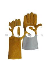 "14"" cow split welding safety leather glove"