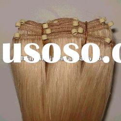 18'' light color, 100g/pc human remy hair weft attached silicone micro beads