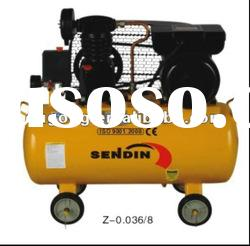 1HP belt drive piston rings mini industrial air compressor specification