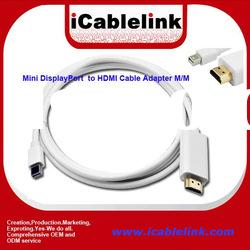 1.8M (6Ft) Mini Displayport Male to HDMI Male Adapter
