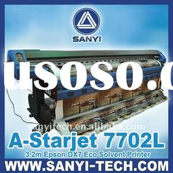 1.8/3.2m Eco Solvent Printer A-Starjet 7702L with 2pc Epson Dx7