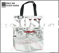 2012 HOT SALE High quality Environmental friendly girls cotton canvas tote bag