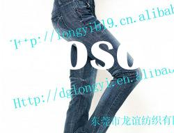 2012 Long Yi newest denim jeans women's jeans fabric