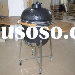 2012 NEW SPECIAL BBQ CERAMIC KAMADO with iron top vent and arc side table